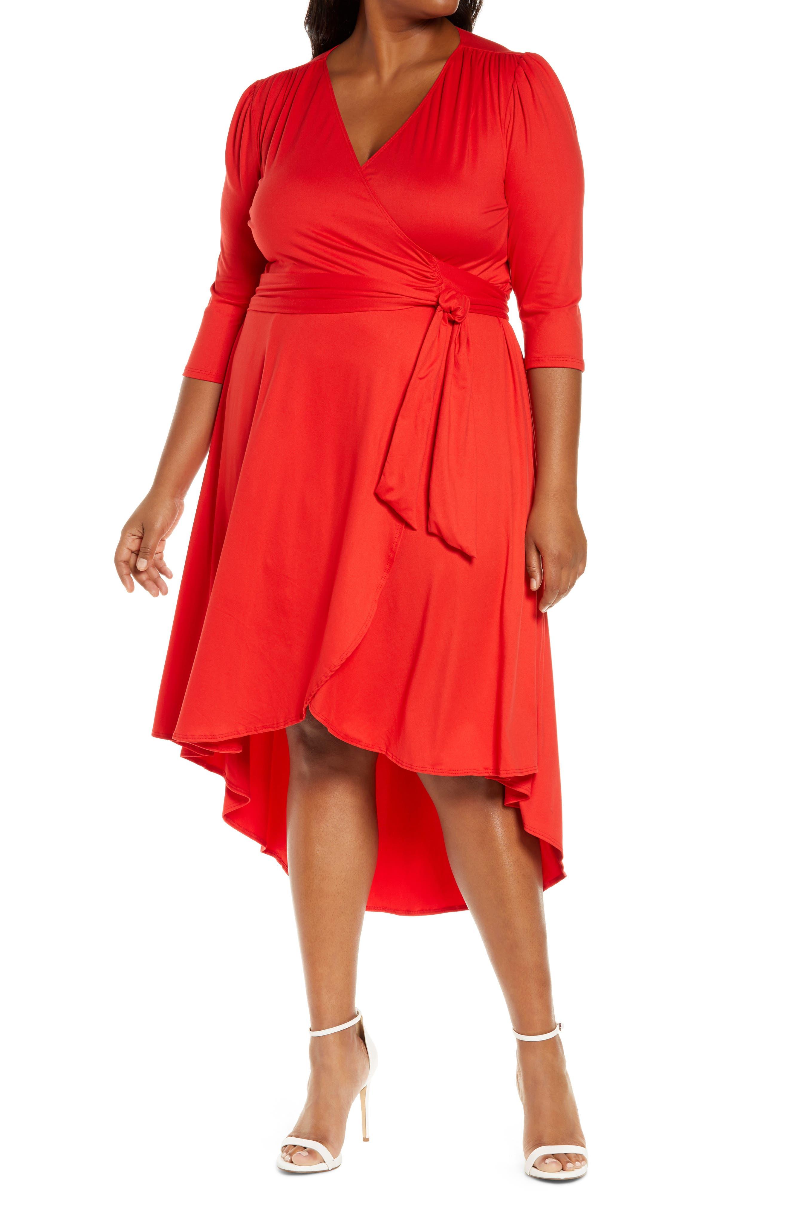 Winona High/low Wrap Dress