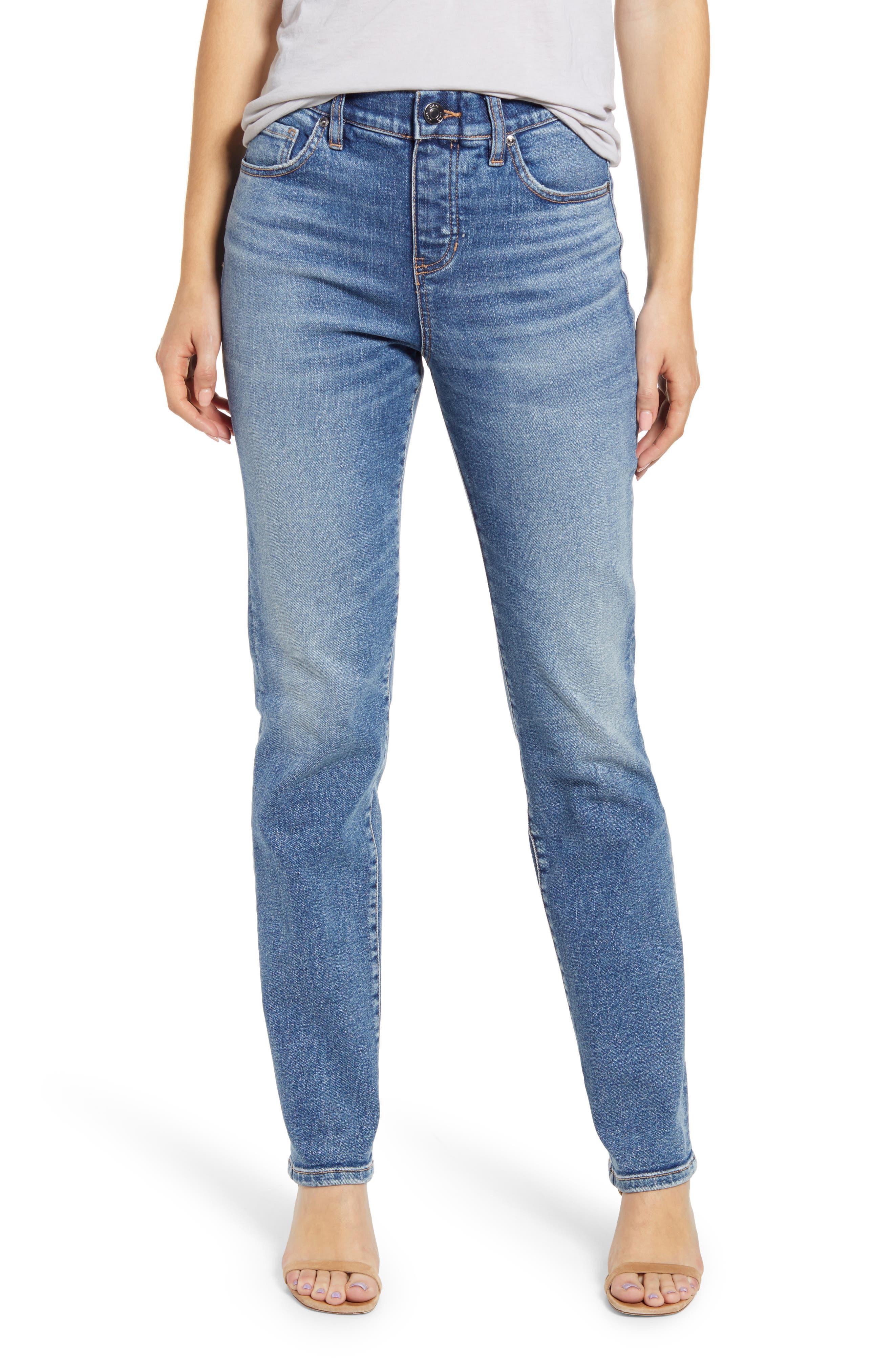 Valentina Pull-On High Waist Straight Leg Jeans