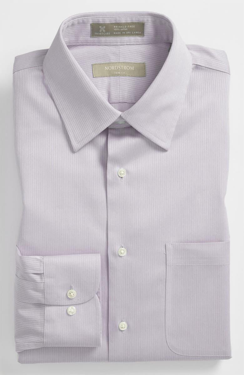 NORDSTROM MEN'S SHOP Smartcare<sup>™</sup> Trim Fit Dress Shirt, Main, color, 020