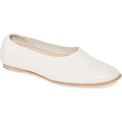 Pedro Garcia Hilaria Ballet Flat, White