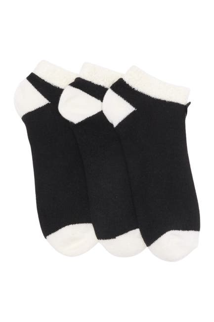 Image of Felina Shea Butter Lounge Low-Cut Socks - Pack of 3