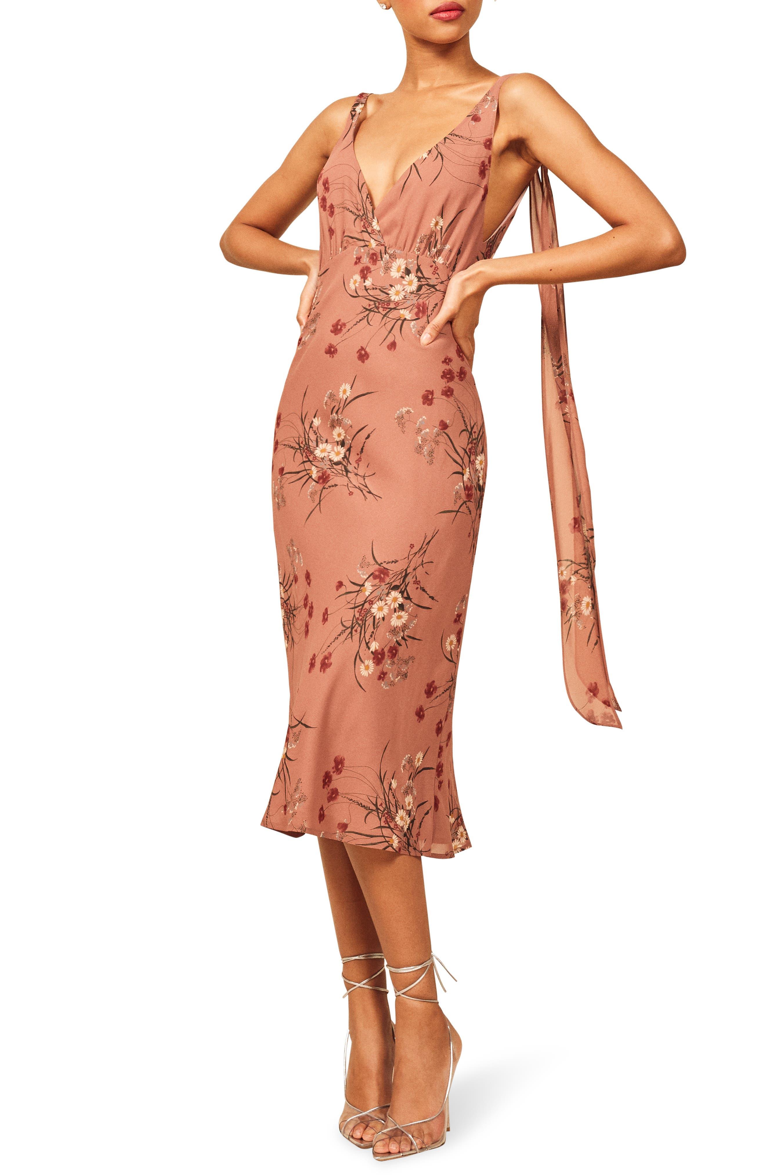 Reformation Venezia Dress, Pink