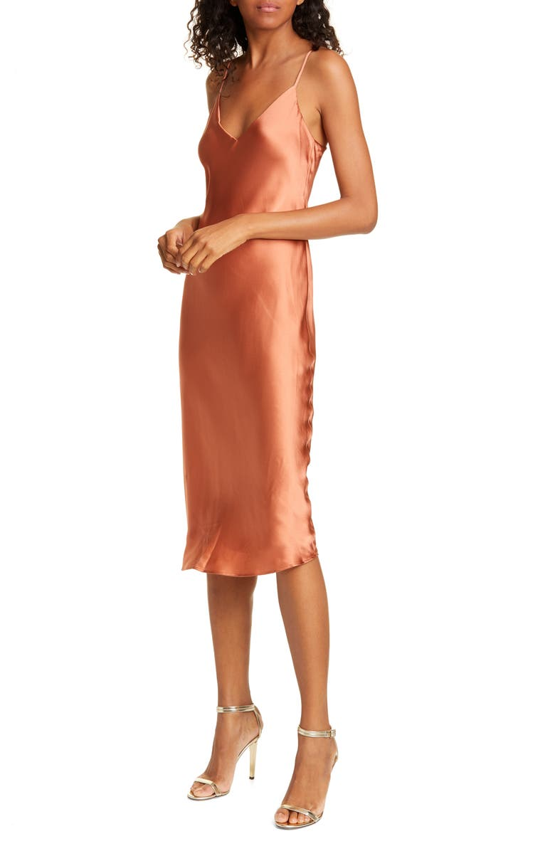 L'AGENCE Jodie Silk Slipdress, Main, color, DUSTY ROSE