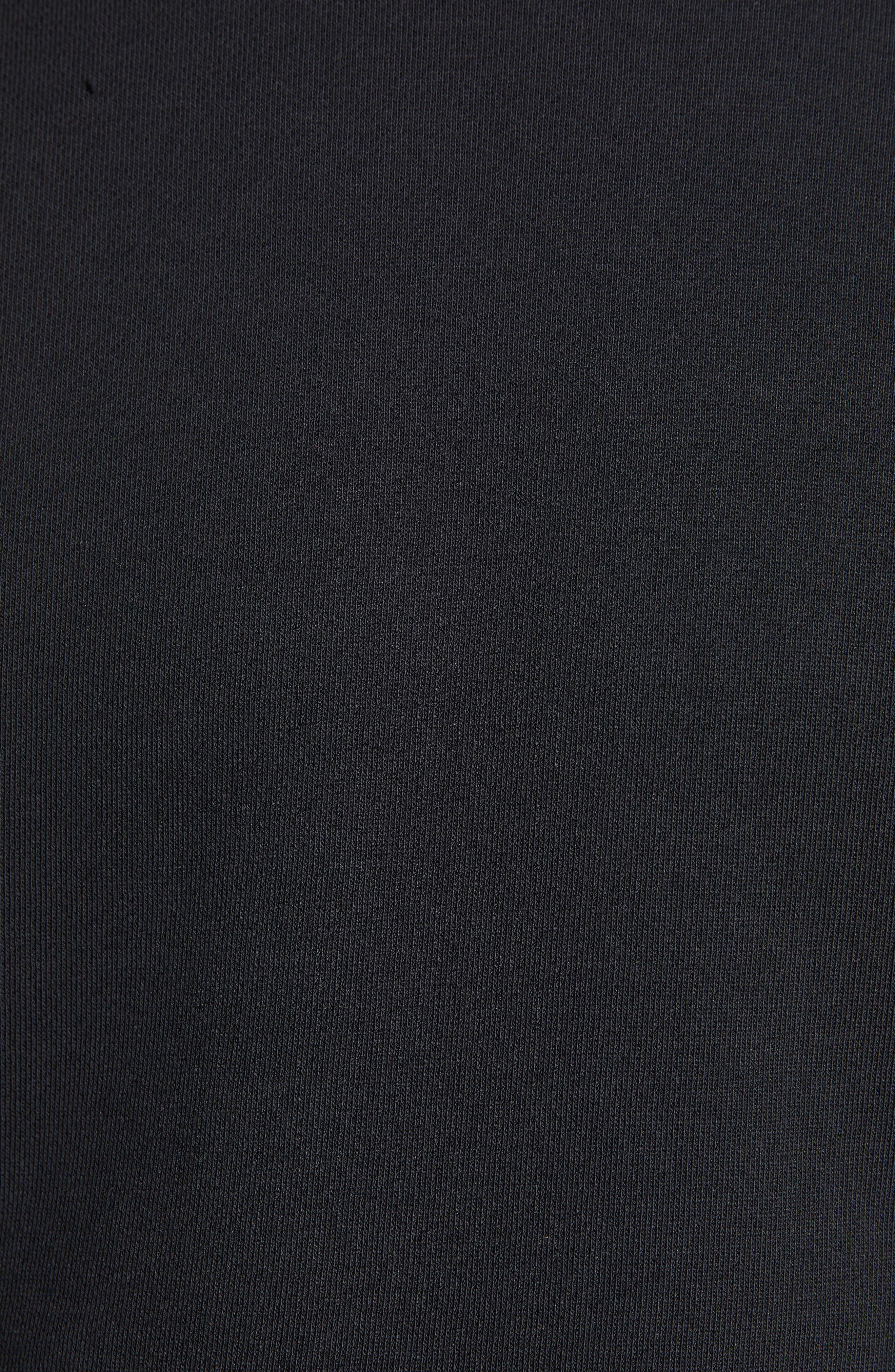 ,                             Crewneck Sweatshirt,                             Alternate thumbnail 5, color,                             BLACK