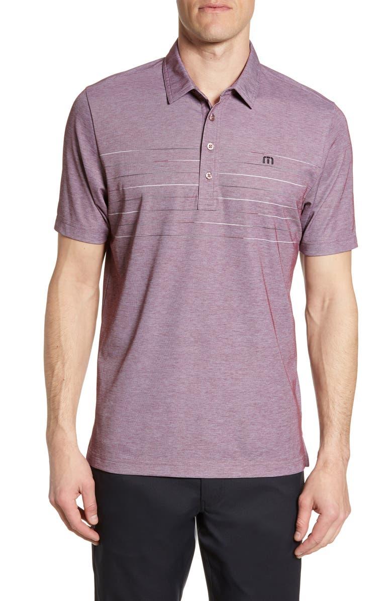 TRAVISMATHEW Good Good Polo Shirt, Main, color, HEATHER TAWNY PORT