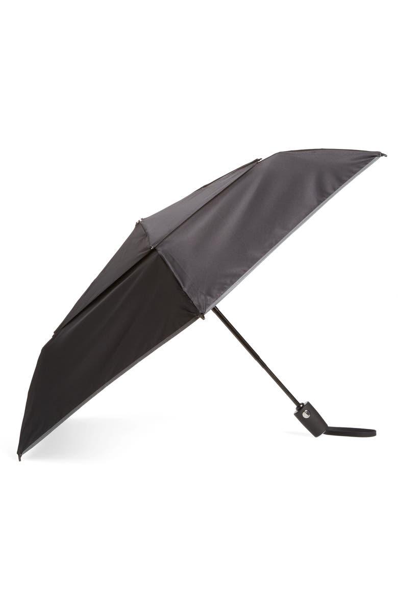 TUMI Medium Auto Close Umbrella, Main, color, BLACK