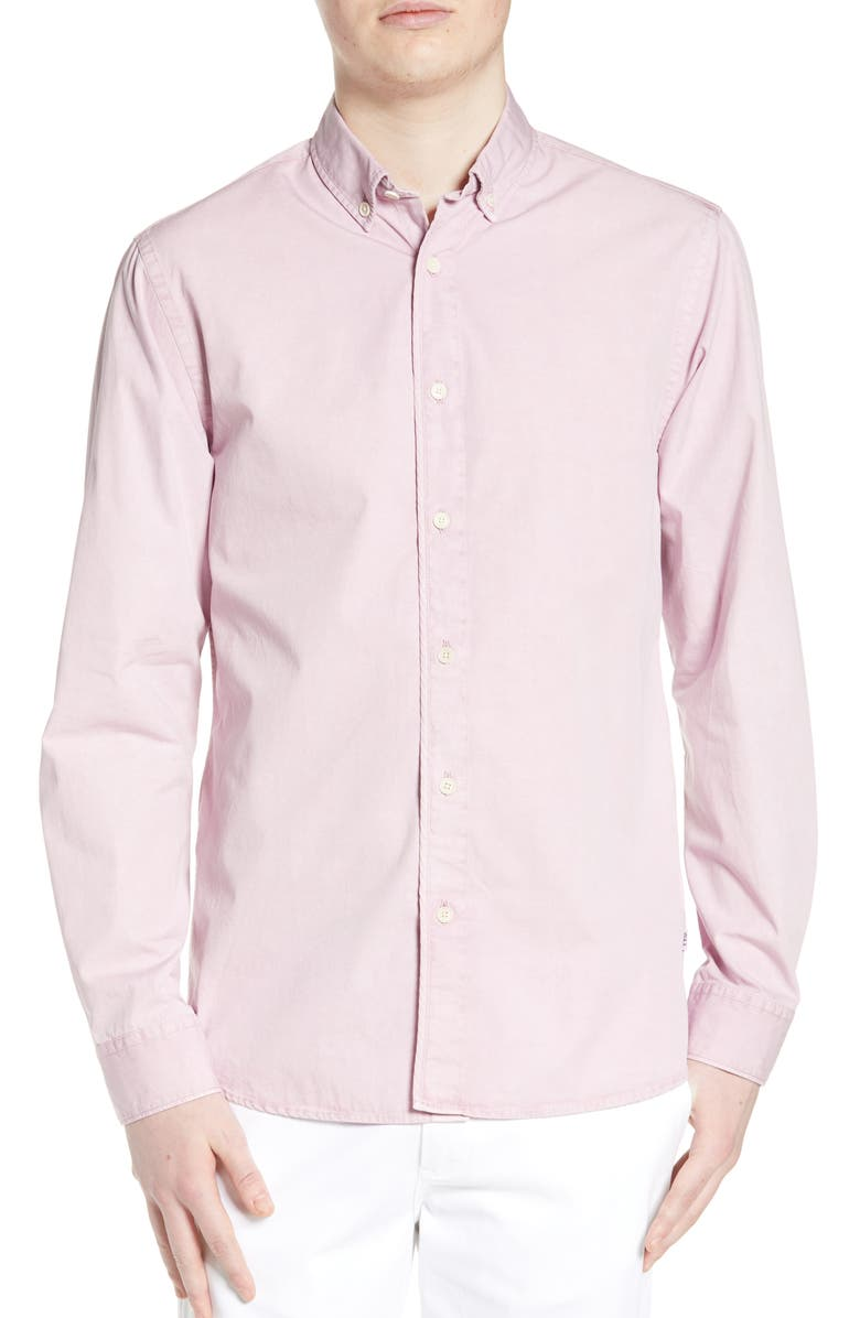 WAX LONDON Bampton Slim Fit Solid Shirt, Main, color, LILAC