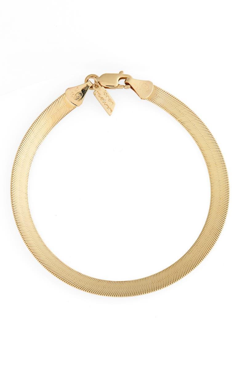 LOREN STEWART Herringbone Chain Bracelet, Main, color, YELLOW GOLD