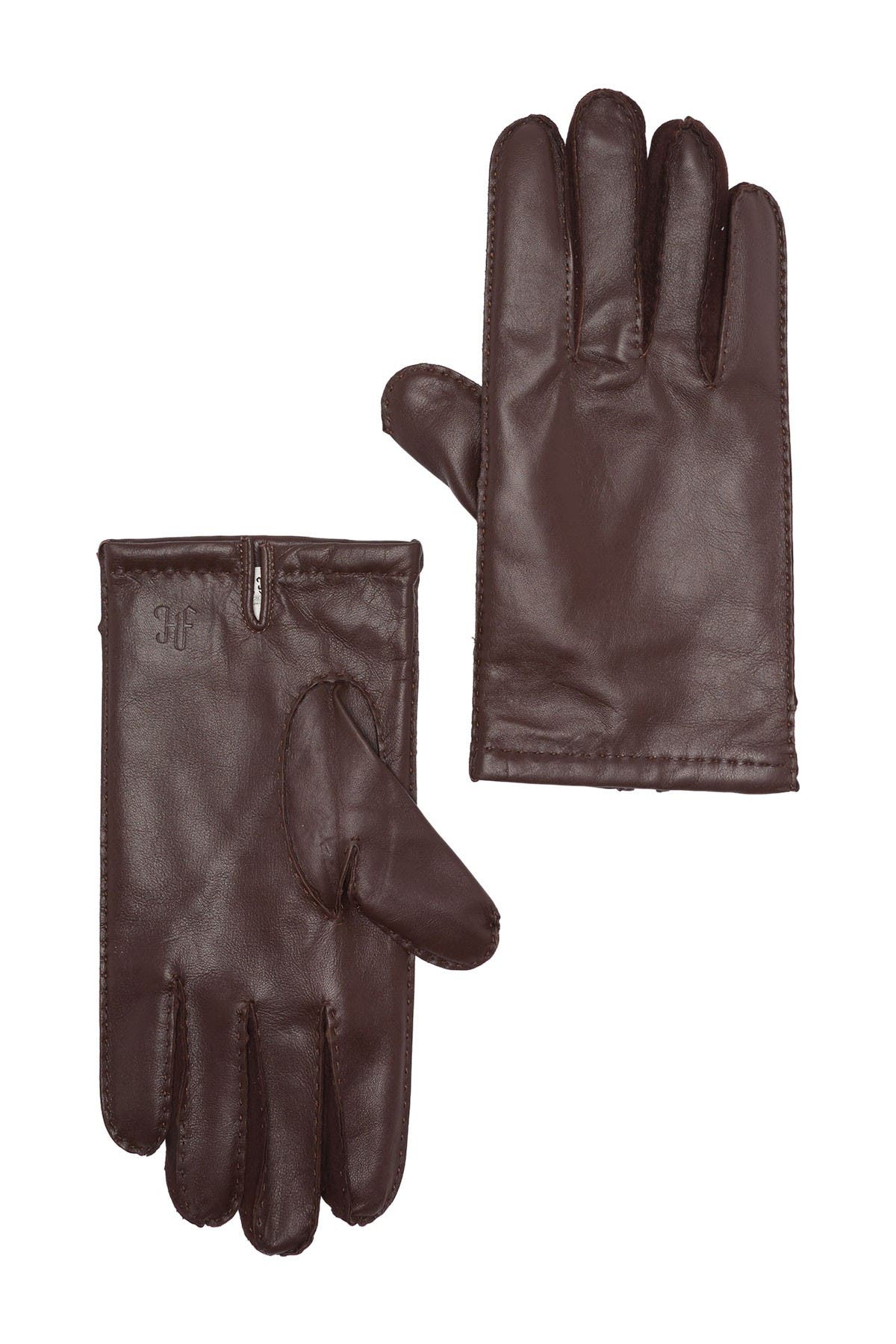 Image of Hickey Freeman Napa Leather Hand Stitched Gloves