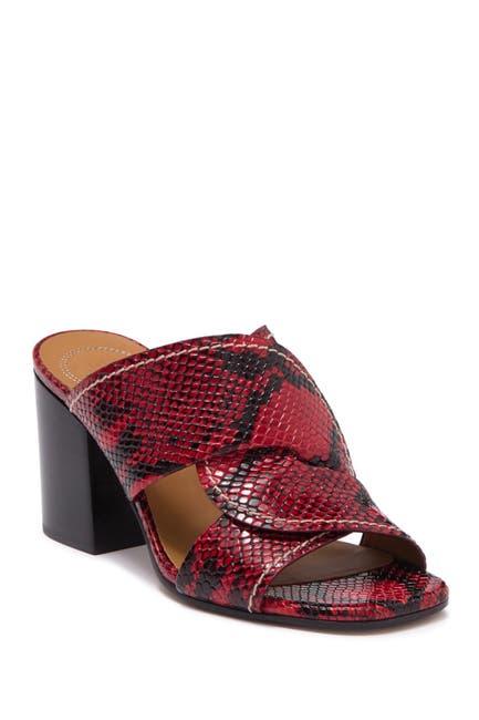 Image of Chloe Candice Snake Embossed Leather Sandal