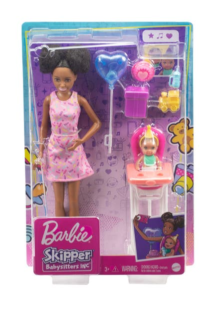 Image of Mattel Barbie® Skipper® Babysitters Inc™ Dolls and Playset--DIVERSE DOLL