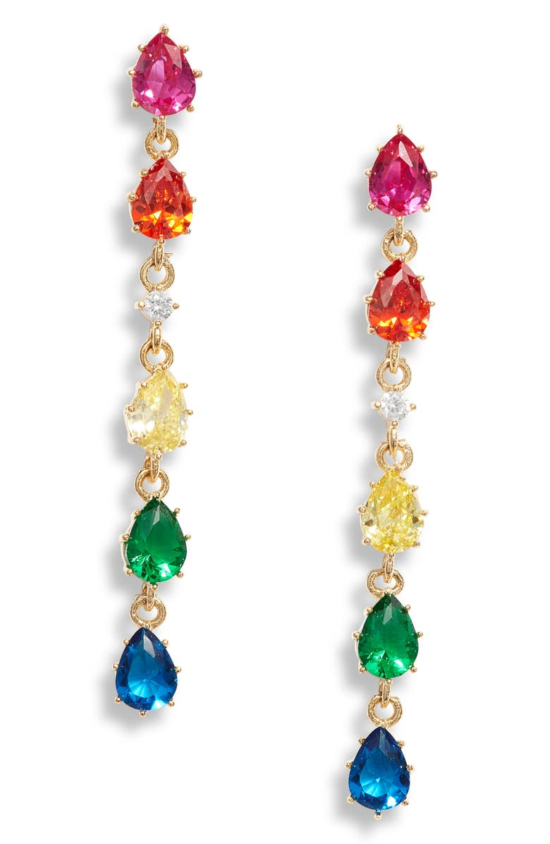 8 OTHER REASONS Francis Rhinestone Drop Earrings, Main, color, 710
