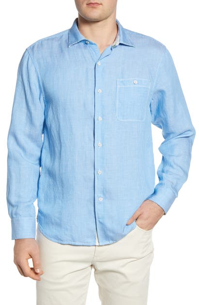 Tommy Bahama T-shirts LINE IN THE SAND LINEN & TENCEL LYOCELL BUTTON-UP SHIRT