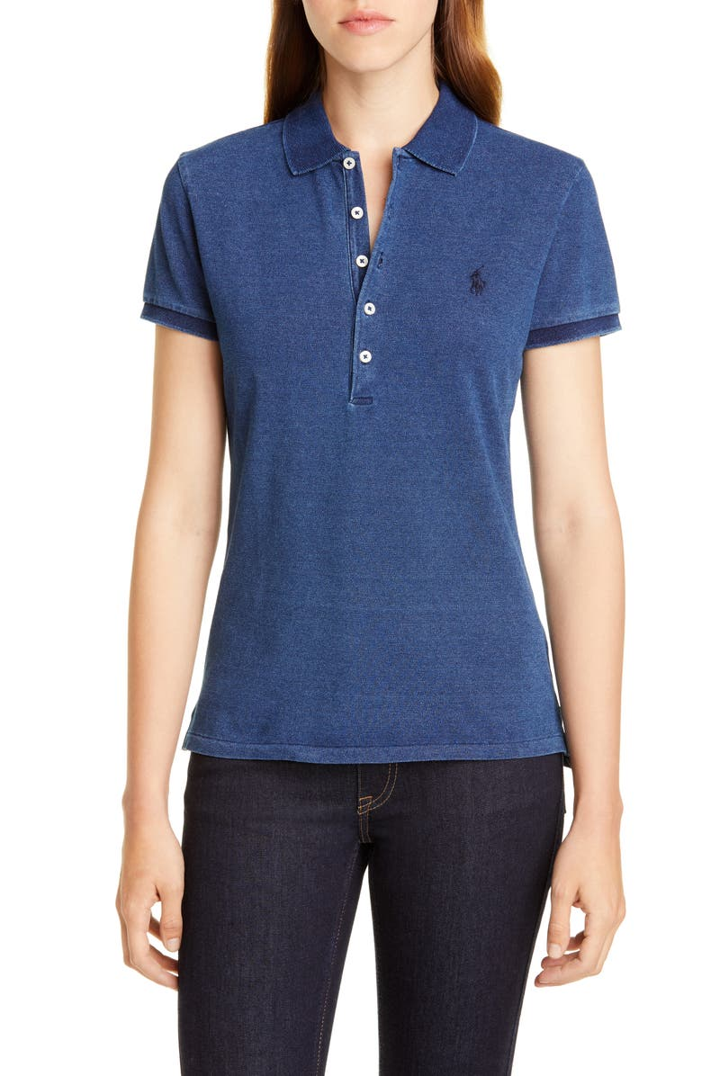 POLO RALPH LAUREN Julie Polo, Main, color, DARK INDIGO