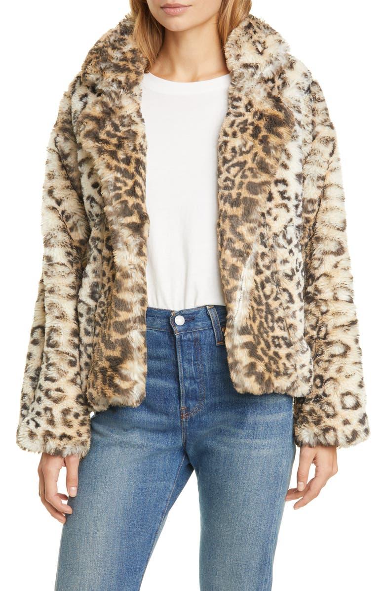 LE SUPERBE Fur Sure Faux Fur Jacket, Main, color, 001