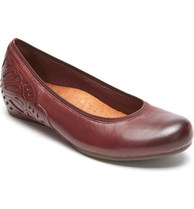 ROCKPORT COBB HILL Sharleen Wedge Pump, Main, color, MERLOT LEATHER