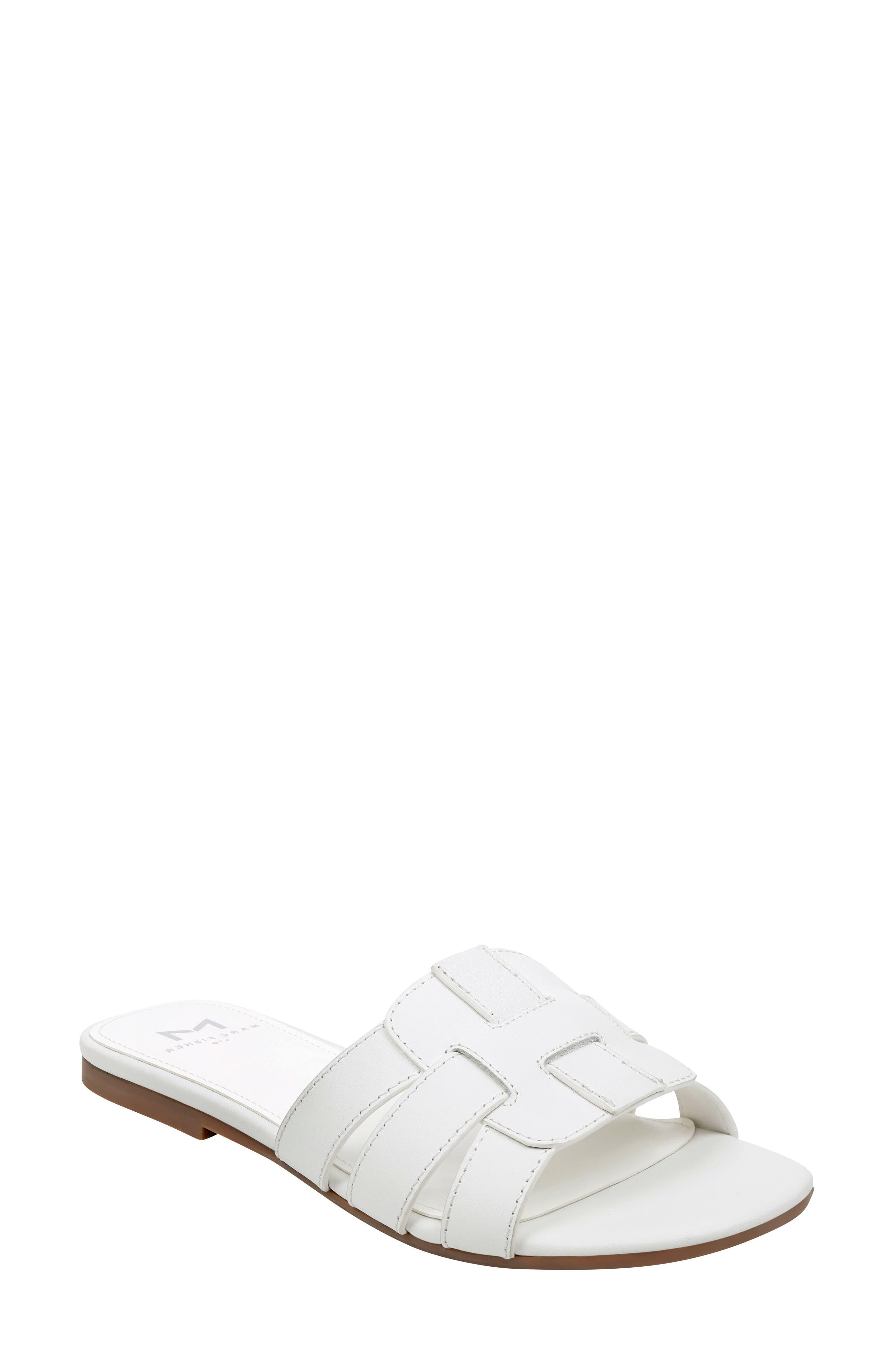Marc Fisher Ltd Kayli Slide Sandal, White