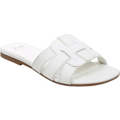 Marc Fisher Ltd Kayli Slide Sandal- White