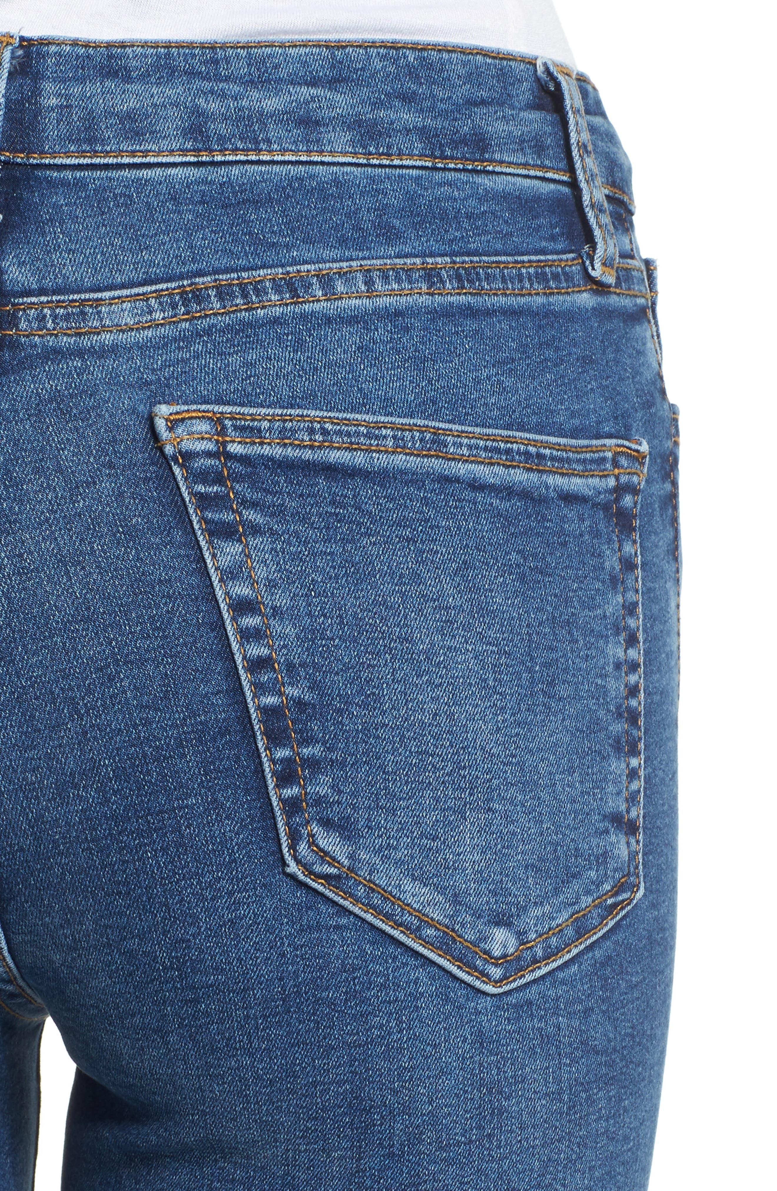 ,                             Jamie Indigo High Waist Skinny Jeans,                             Alternate thumbnail 5, color,                             401