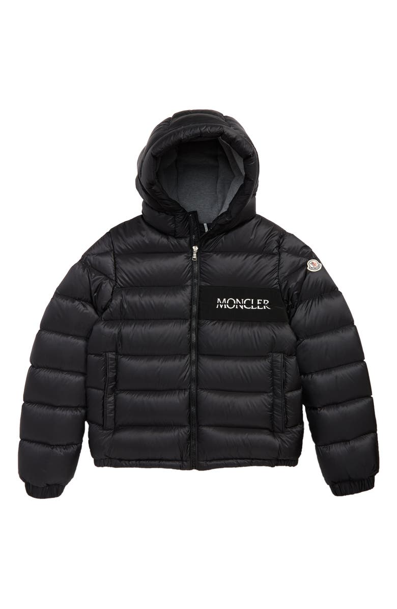 MONCLER Aiton Quilted Puffer Jacket, Main, color, BLACK