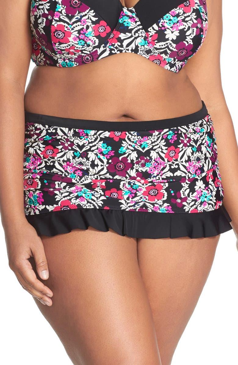 JESSICA SIMPSON 'It Girl' Skirted Bikini Bottoms, Main, color, 001