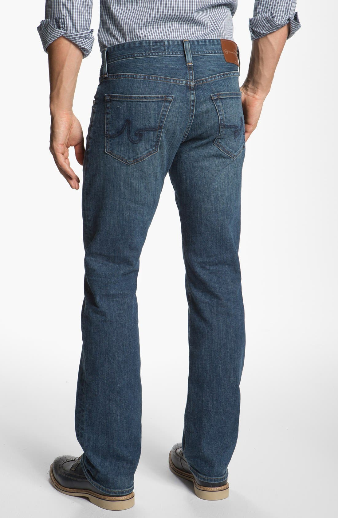 ,                             'Protégé' Straight Leg Jeans,                             Alternate thumbnail 28, color,                             422