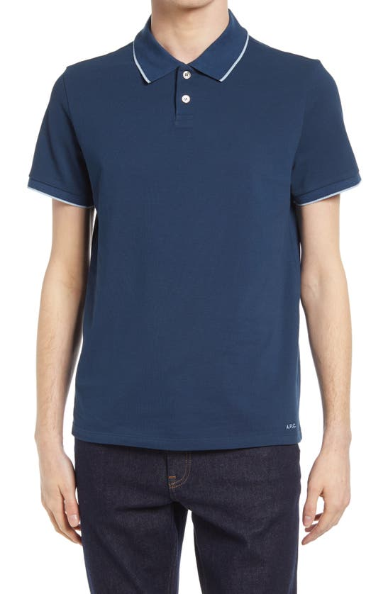 A.p.c. MAX TIPPED SHORT SLEEVE POLO