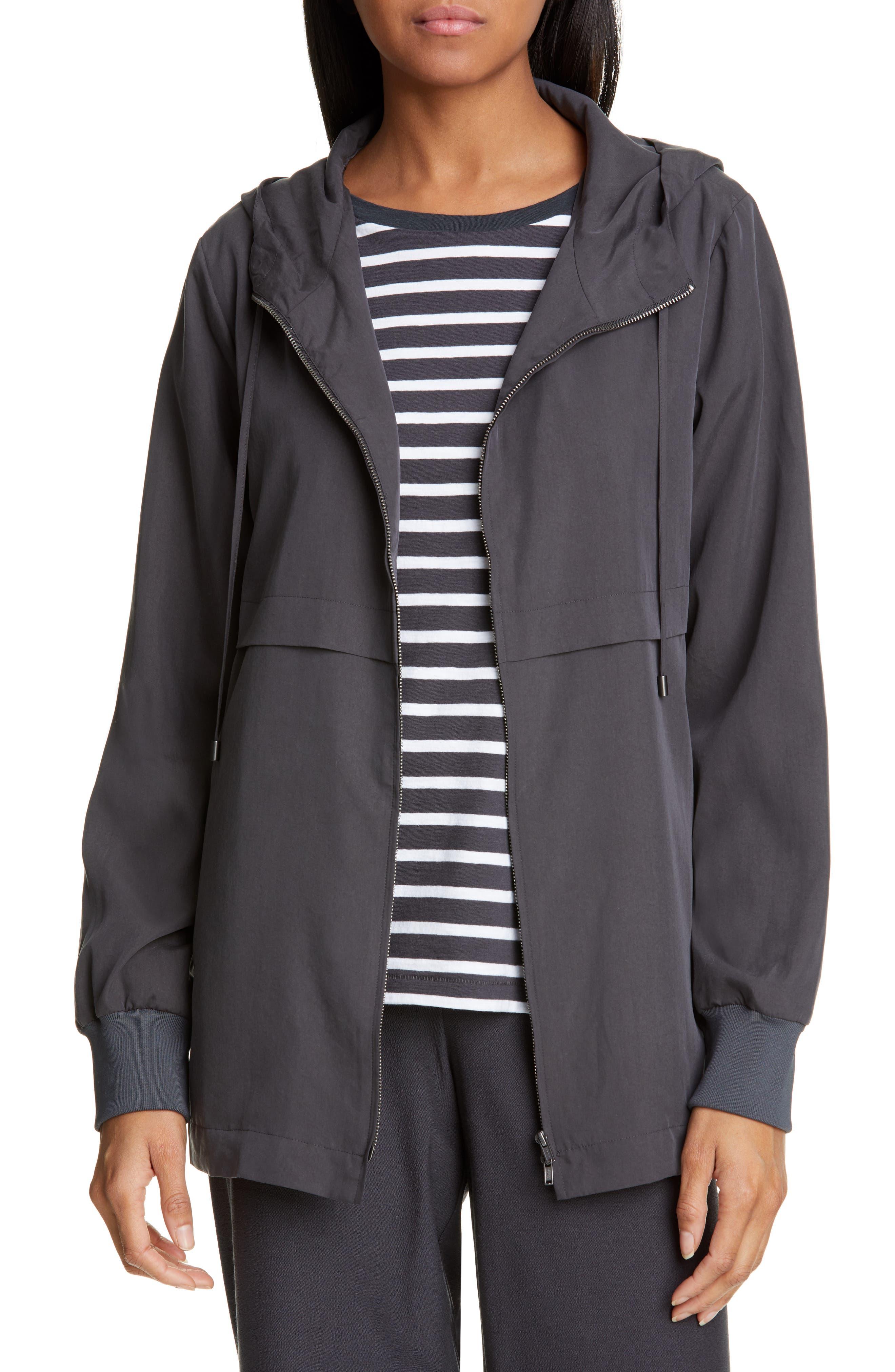 women's eileen fisher hooded jacket