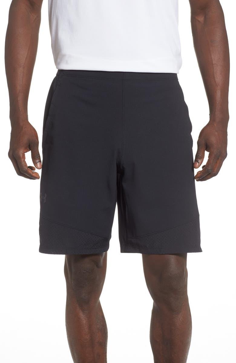 UNDER ARMOUR Vanish Woven Shorts, Main, color, BLACK/ JET GREY