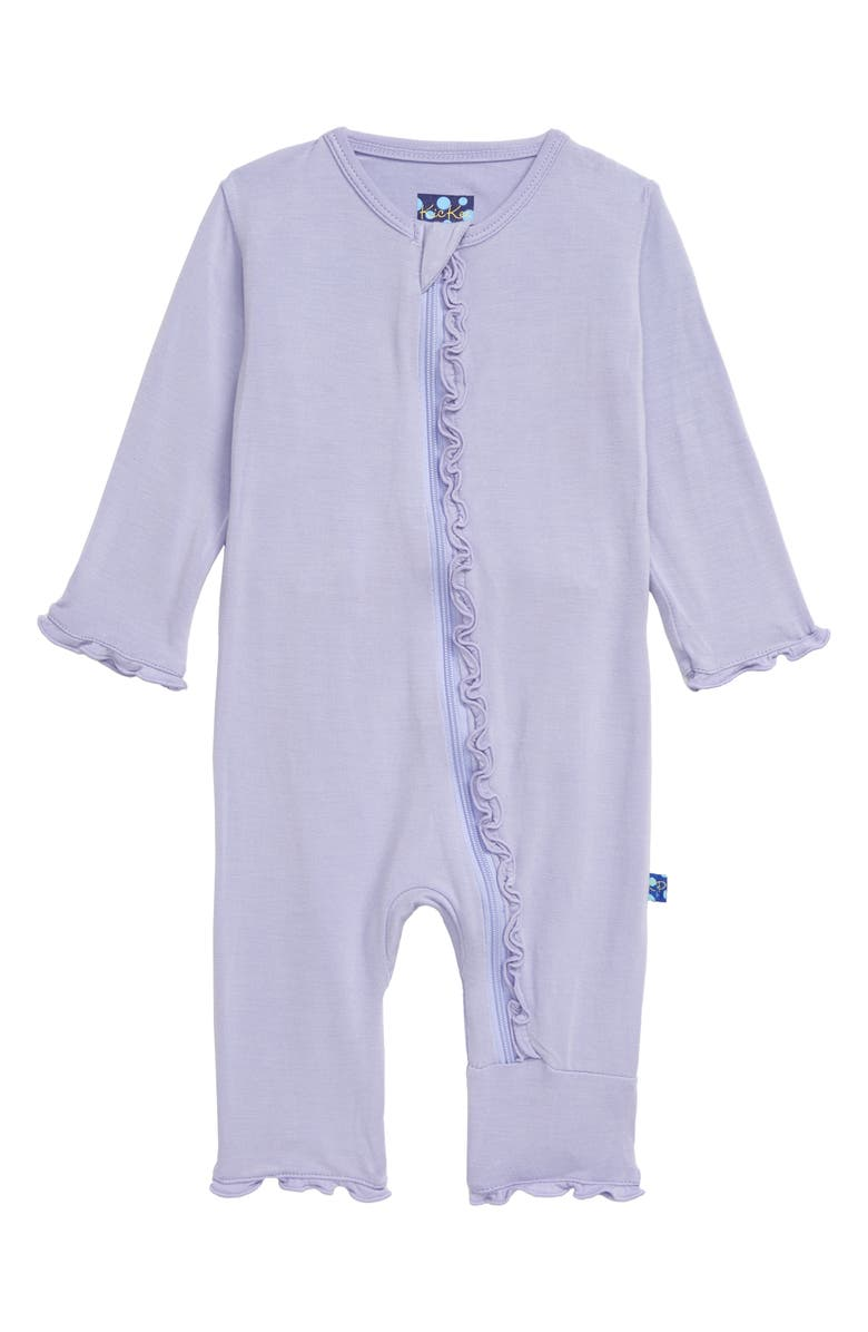 KICKEE PANTS Muffin Ruffle Romper, Main, color, LILAC