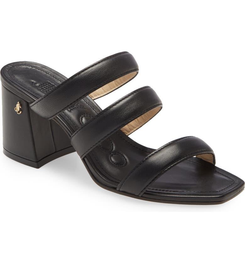 JIMMY CHOO Auna Mule Sandal, Main, color, BLACK