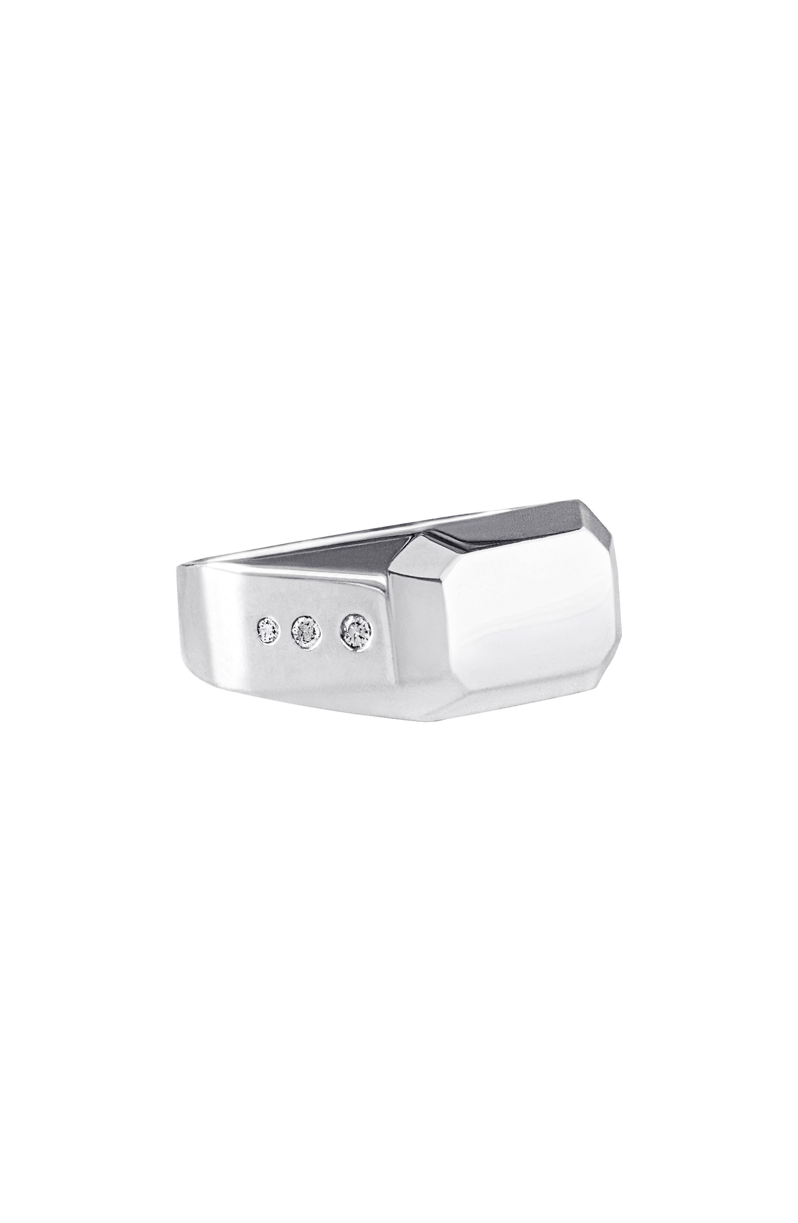 Men's James Diamond Inset Signet Ring