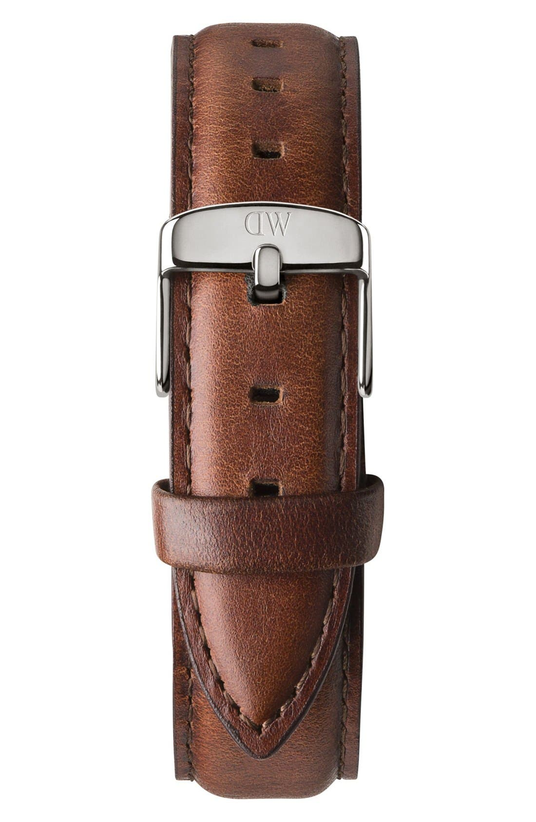 'Classic St. Mawes' 18mm Leather Watch Strap