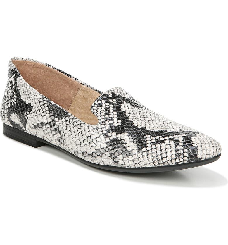 NATURALIZER Lorna Collapsible Heel Loafer, Main, color, ALABASTER SNAKE