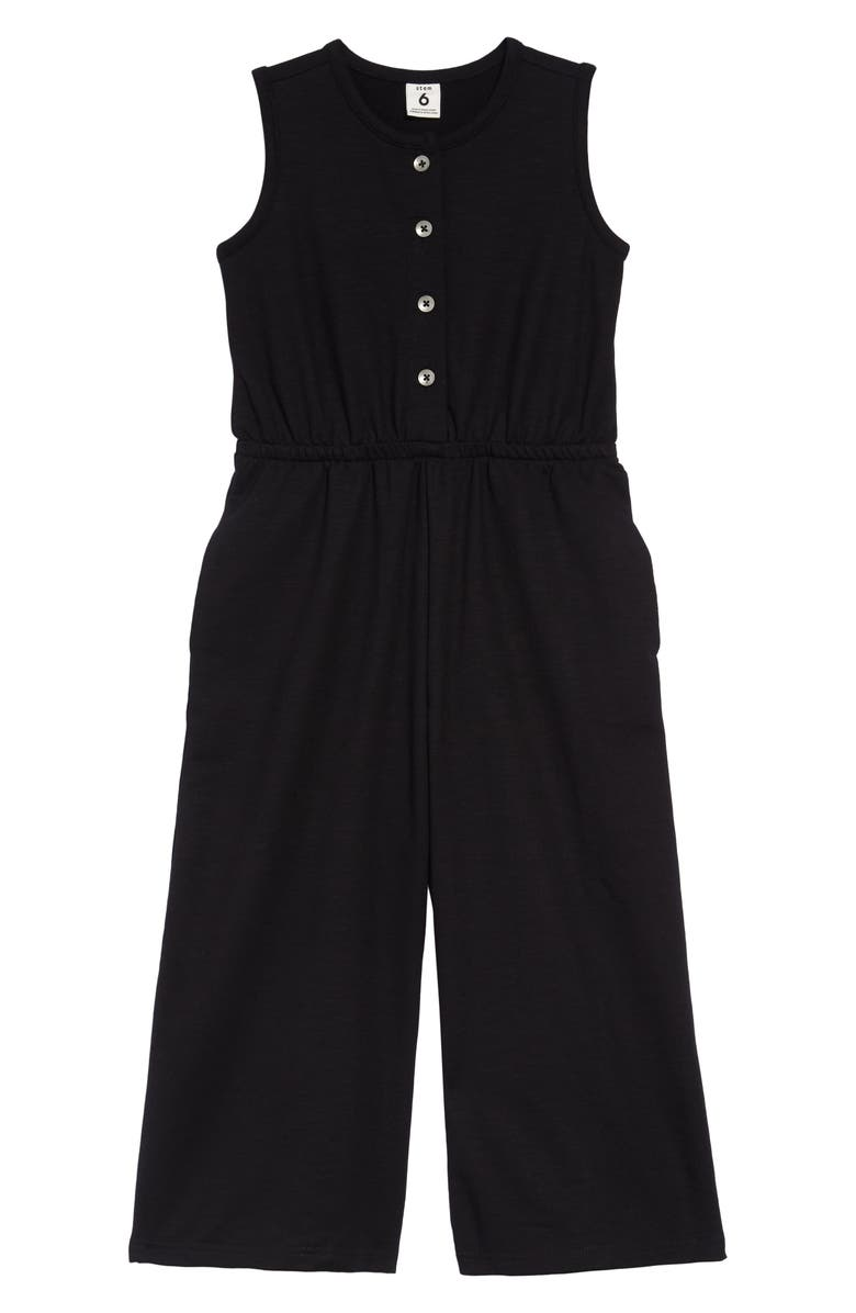 STEM Wide Leg Jumpsuit, Main, color, BLACK