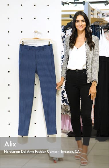 Felix Pinstripe Crop Super Skinny Dress Pants, sales video thumbnail