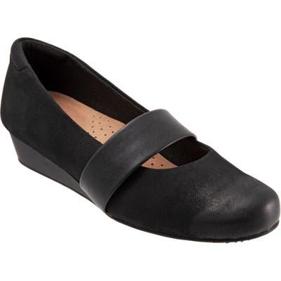 Softwalk Winona Mary Jane Wedge, Black