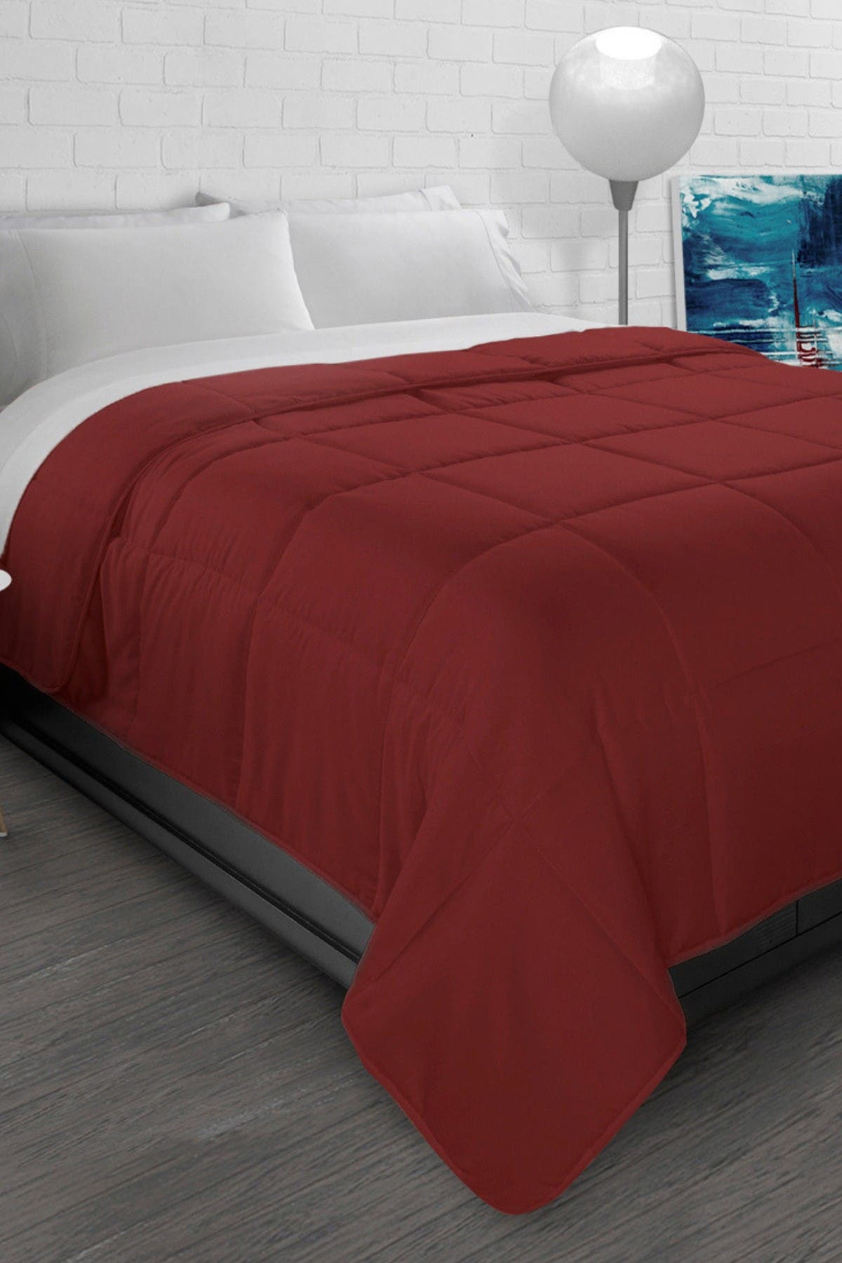 Image of Ella Jayne All-Season Super Soft Triple Brushed Microfiber Down-Alternative Comforter - Brick Red