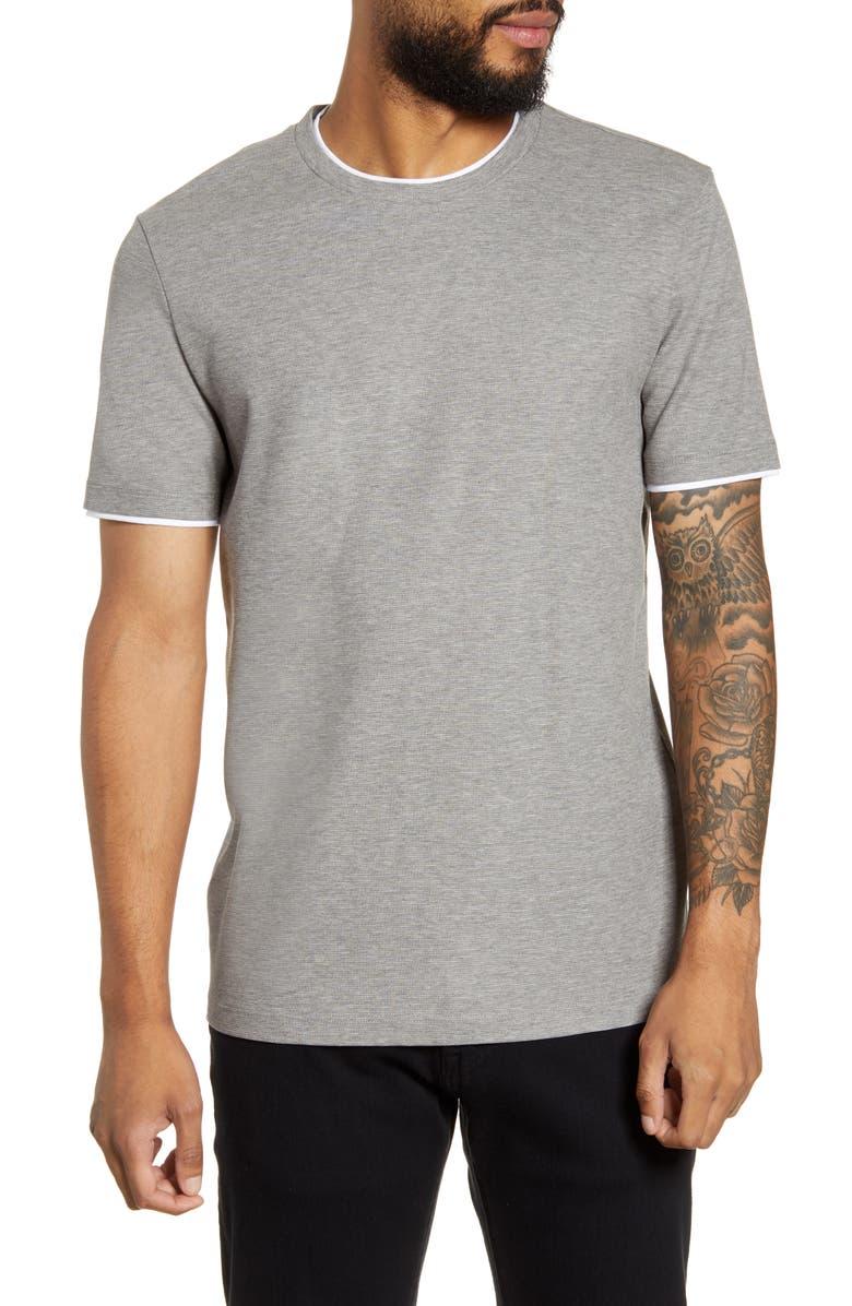 BOSS Tiburt 135 Slim Fit T-Shirt, Main, color, SILVER