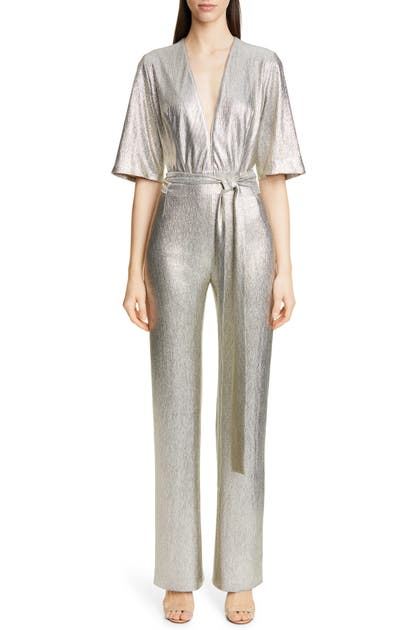 Galvan METALLIC GALAXY JUMPSUIT