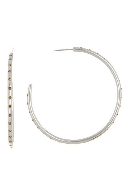 Image of Sole Society Crystal Hoop Earrings