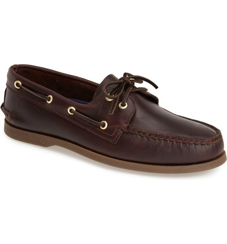 SPERRY 'Authentic Original' Boat Shoe, Main, color, Amaretto