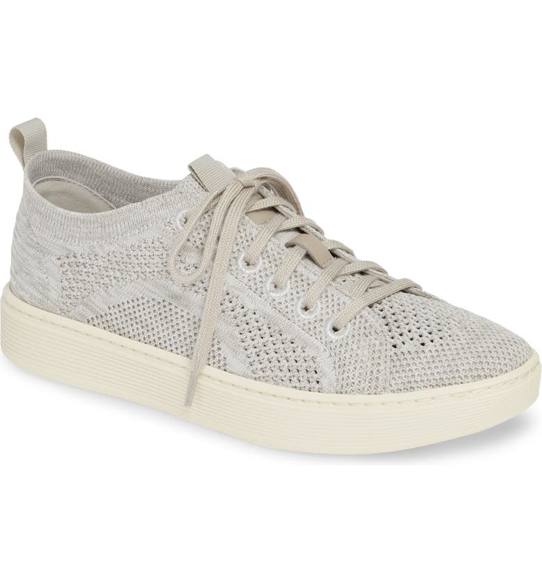 SÖFFT Somers Knit Sneaker, Main, color, MIST GREY/ WHITE