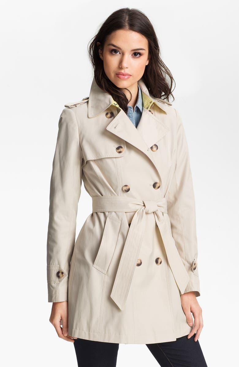 DKNY Pleat Back Trench Coat, Main, color, 250