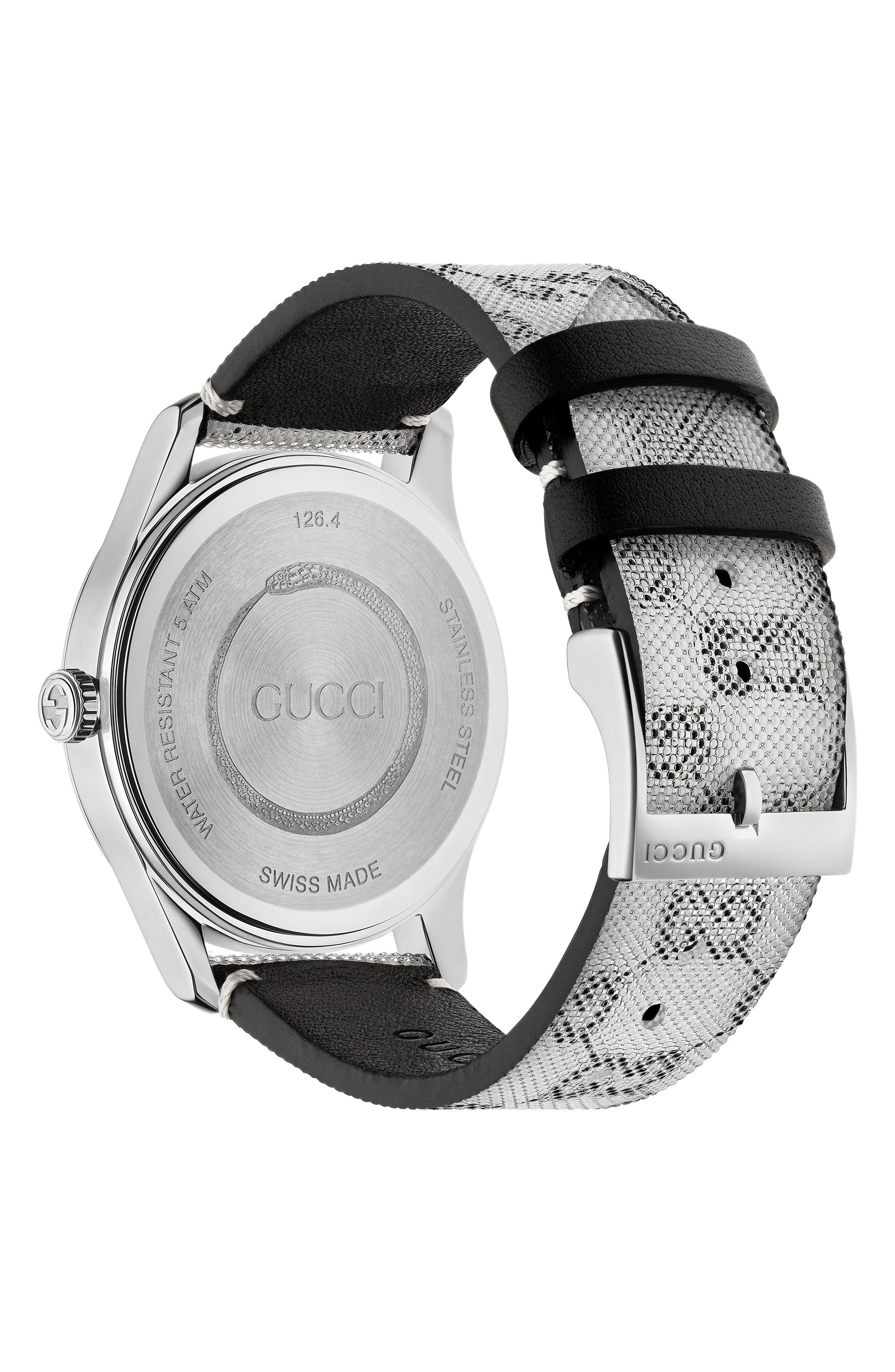 ,                             G-Timeless Holo Strap Watch, 38mm,                             Alternate thumbnail 2, color,                             GREY/ SILVER
