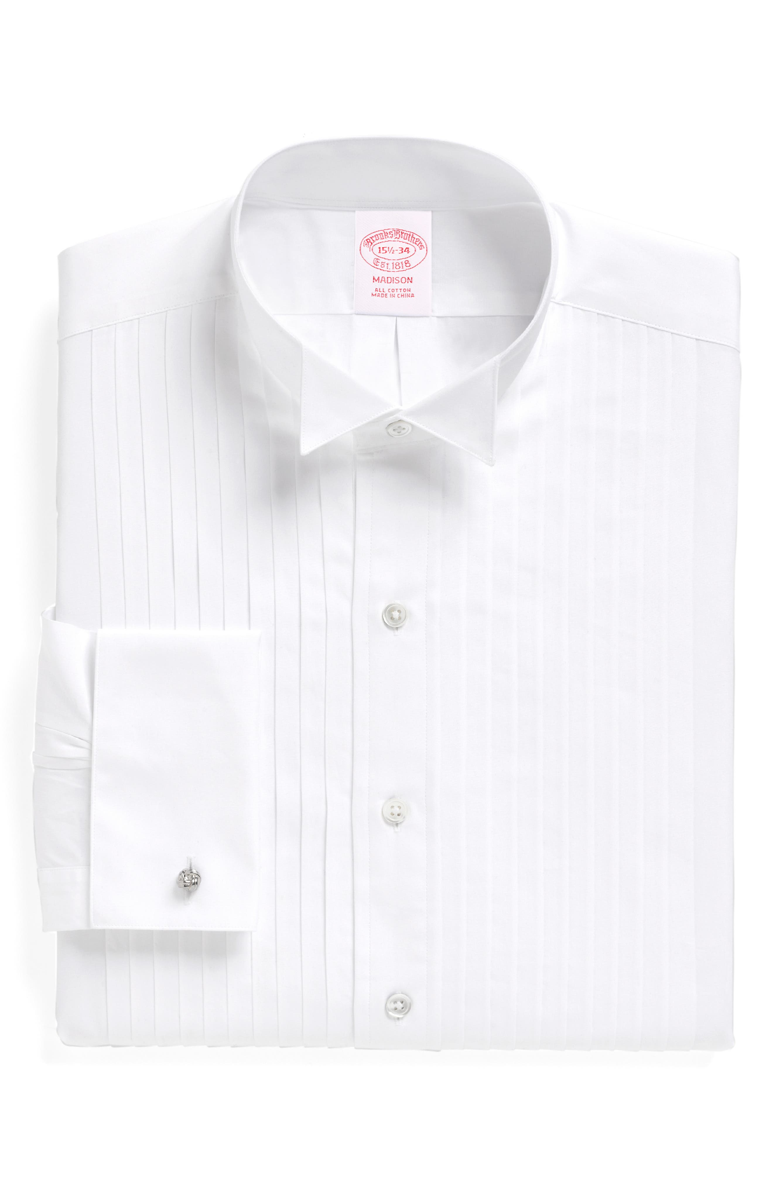 ,                             Madison Classic Fit Formal Shirt,                             Main thumbnail 1, color,                             WHITE