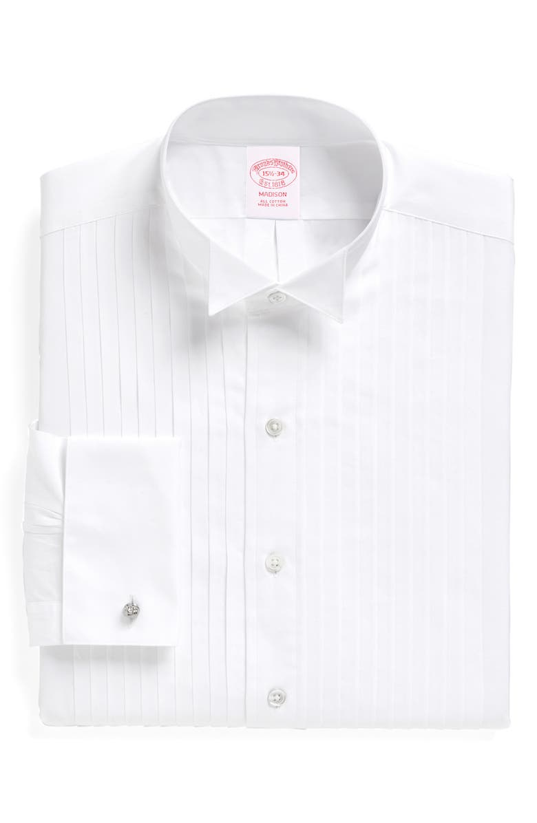 BROOKS BROTHERS Madison Classic Fit Formal Shirt, Main, color, WHITE