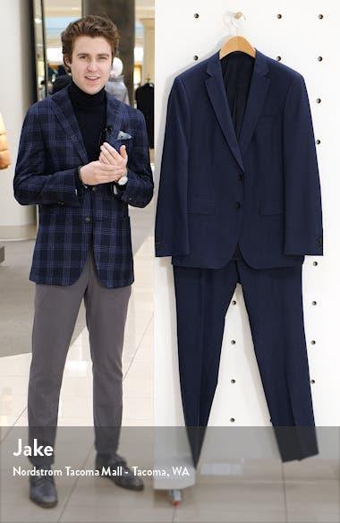 Huge/Genius Trim Fit Check Wool Suit, sales video thumbnail