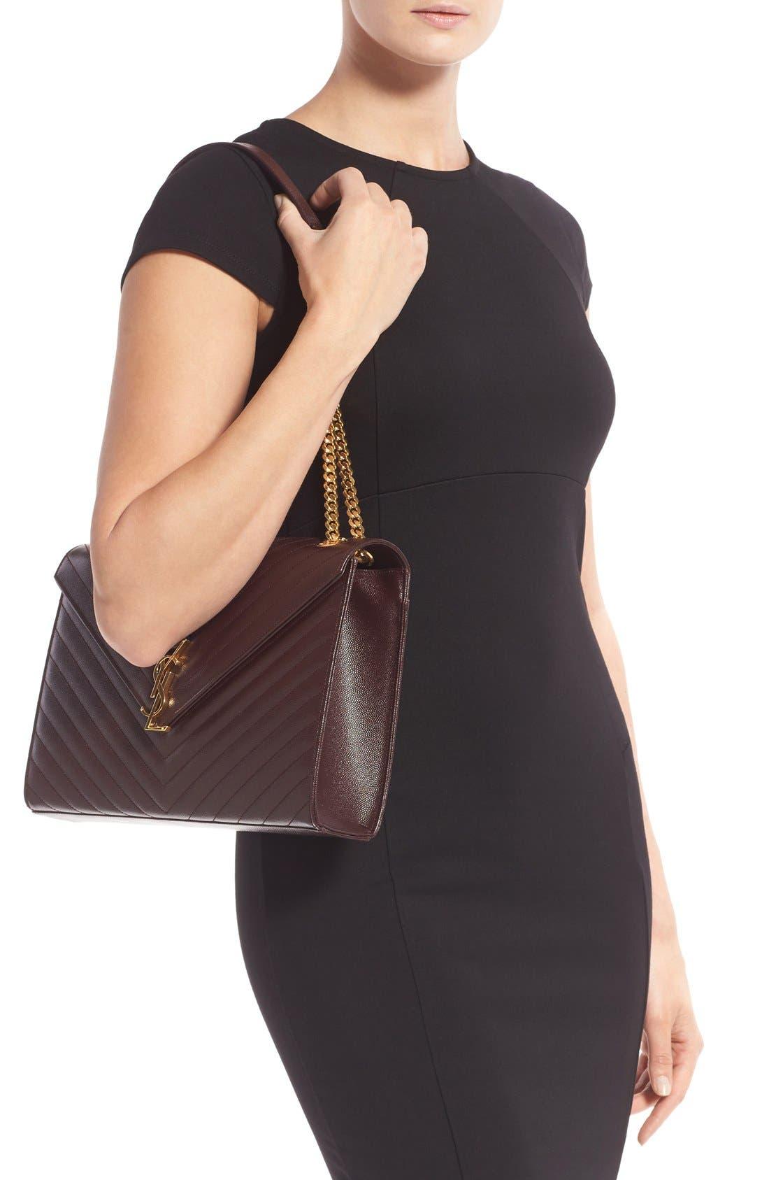 ,                             'Large Monogram' Grained Leather Shoulder Bag,                             Alternate thumbnail 31, color,                             606