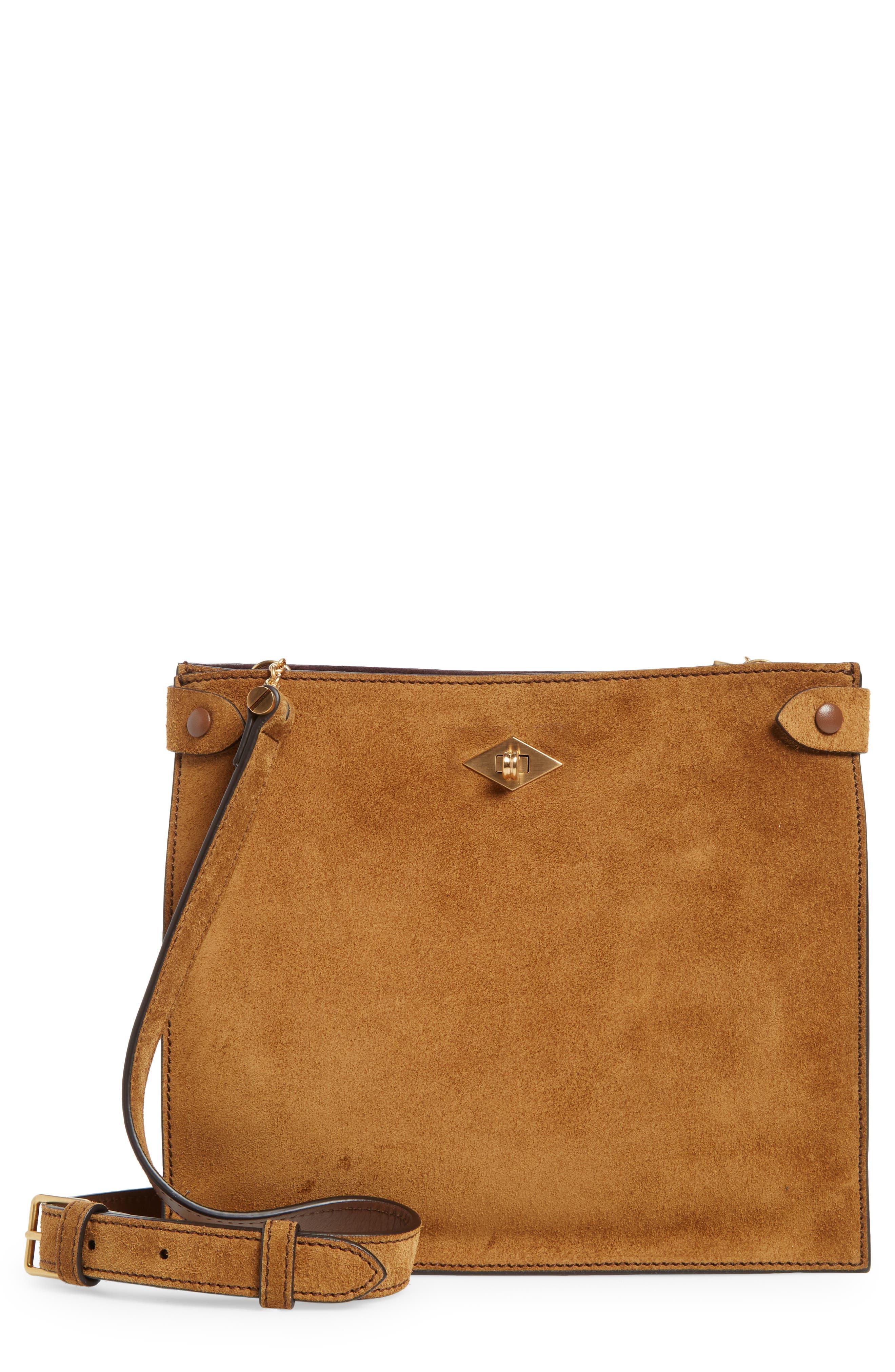 Stowaway Suede Crossbody Bag